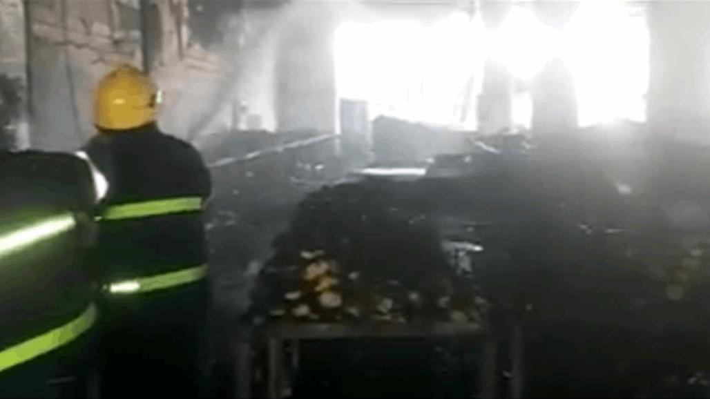 """الدفاع المدني تسيطر على حريق """"ضخم"""" جنوب بغداد"""