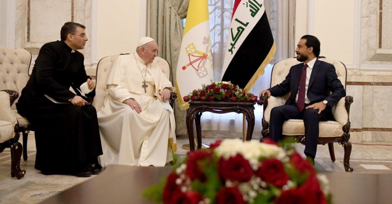 رئيسا البرلمان والجمهورية يحضران قداسا يقيمه البابا في كنيسة مار يوسف ببغداد